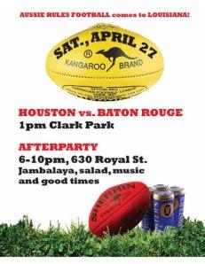 2013 BR Vs Houston Game Flyer